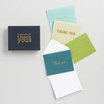 A Bunch of Thank Yous Notecards Set of 10